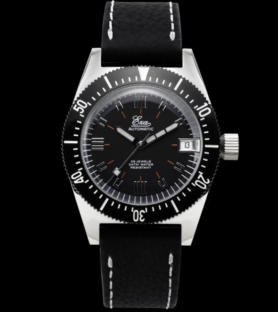 "Eza Watches ""1972"" automatic limited edition 36mm version black dial"