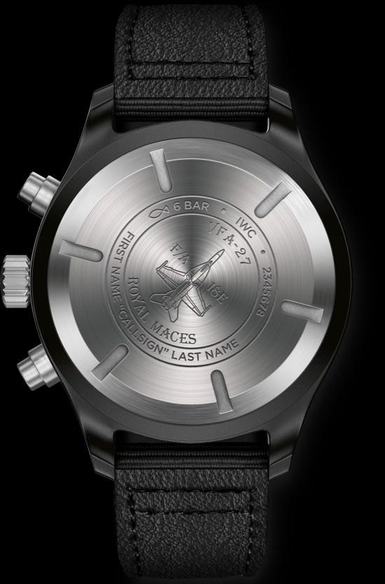 "IWC Pilot's Watch Chronograph Edition ""Royal Maces"" (Ref. IW389011) caseback"