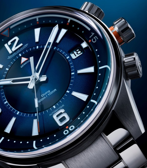 Jaeger-LeCoultre Polaris Mariner Memovox (Reference: Q9038180) with gradient blue dial