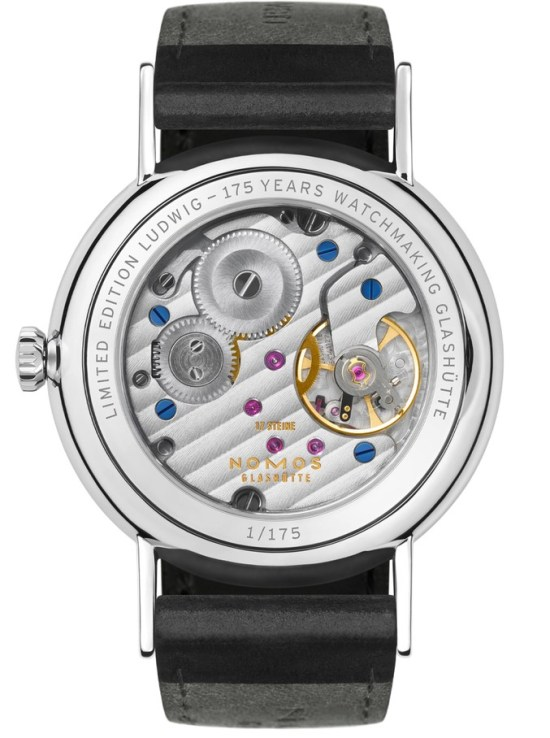 Ludwig—175 Years Watchmaking Glashütte 2D glass back (ref. 205.S2)