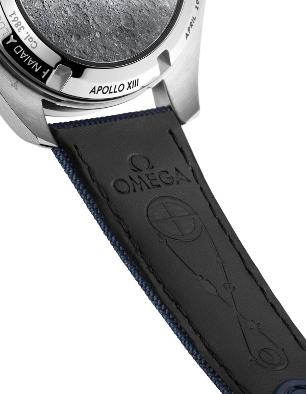 "OMEGA Speedmaster ""Silver Snoopy Award"" 50th Anniversary watch strap"