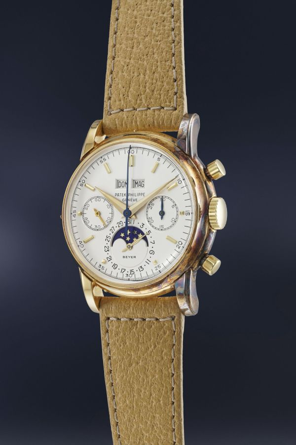 Patek Philippe Reference 2499 third series in yellow gold, Retailed by Beyer (Estimate CHF 400,000-800,000)