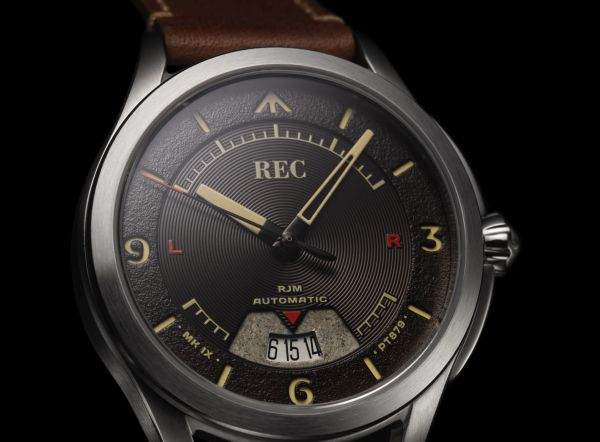 REC Watches RJM Collection dial date window