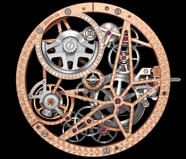 Roger Dubuis - Excalibur Automatic Skeleton Pink Gold, Diamond Set - RD820SQ Calibre