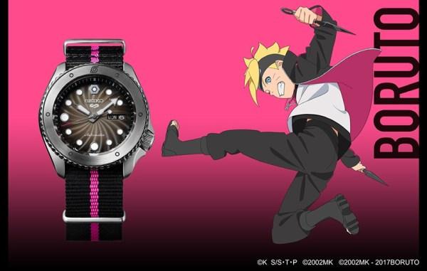Seiko 5 Sports Boruto Uzumaki (Ref. SRPF65) limited edition watch