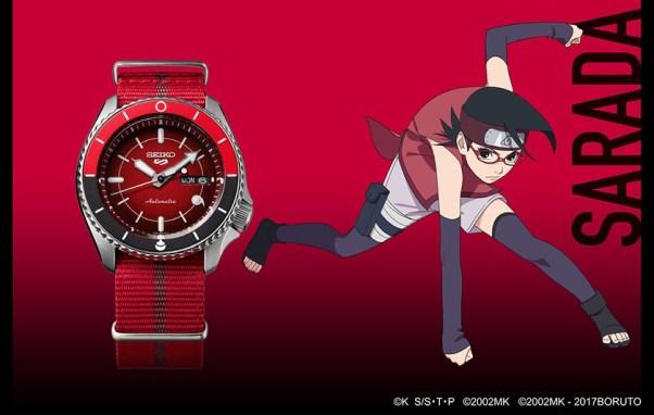 Seiko 5 Sports Sarada Uchiha (Ref. SRPF67) limited edition watch