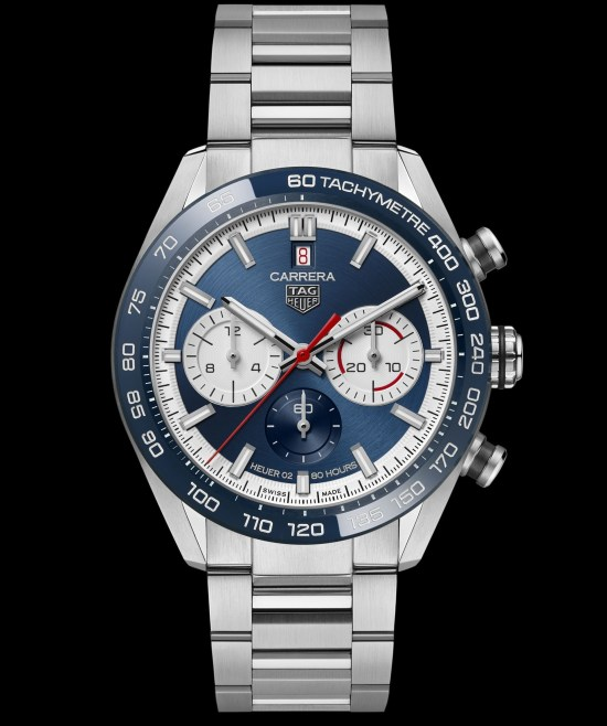TAG Heuer Carrera Sport Chronograph44 mm Calibre Heuer 02 Automatic watch with blue dial