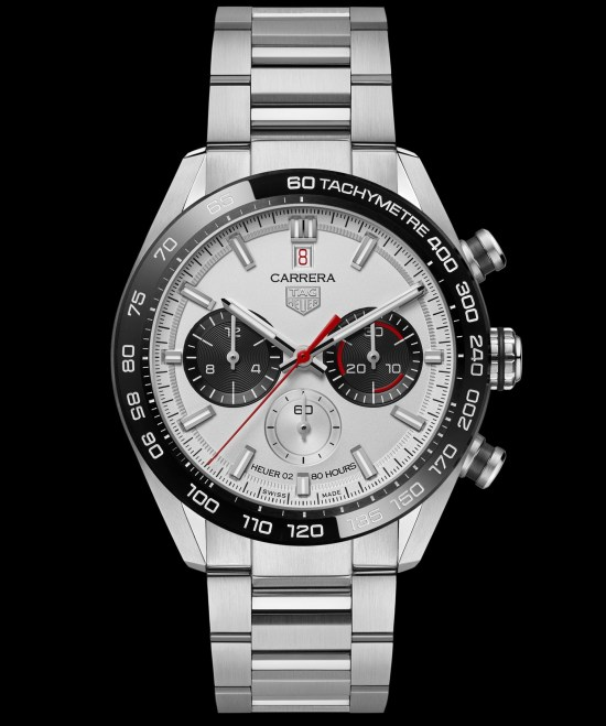 TAG Heuer Carrera Sport Chronograph44 mm Calibre Heuer 02 Automatic watch with white dial