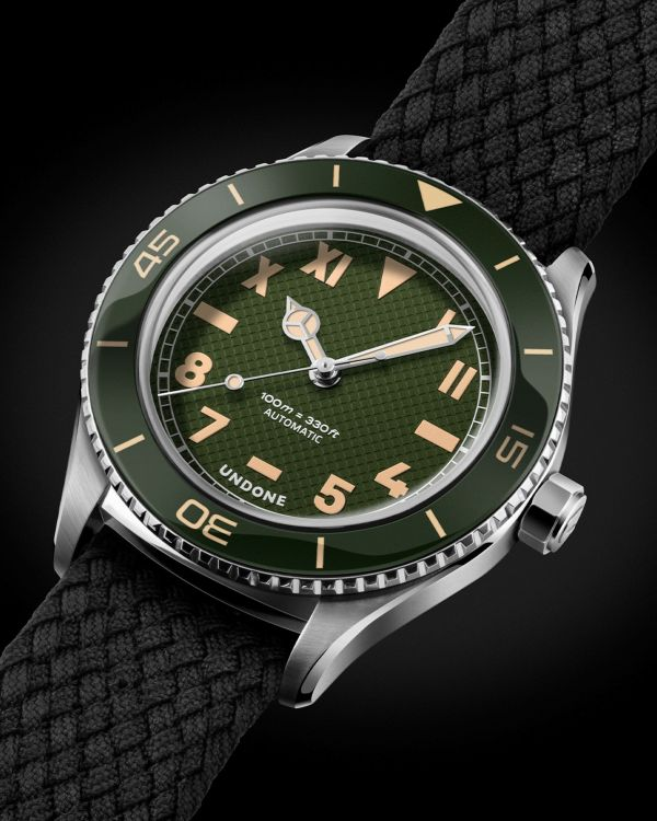 UNDONE Basecamp Cali Automatic watch green dial