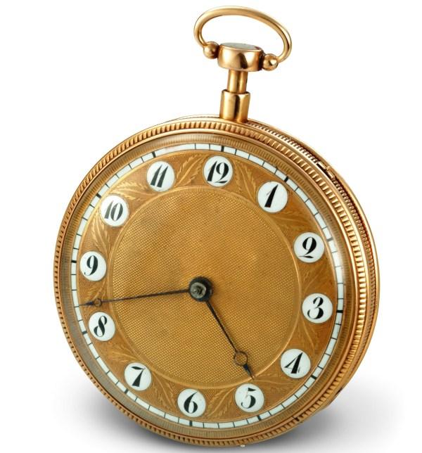 Vacheron Chossat & Cie Pink gold pocket watch, musical quarter-repeater, guilloché gold dial – 1816