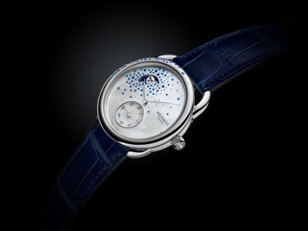 Hermès ARCEAU Petite Lune Jeté de diamants et saphirs