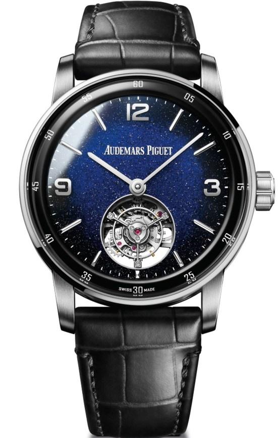 Audemars Piguet Code 11.59 Selfwinding Flying Tourbillon Aventurine white gold watch blue dial