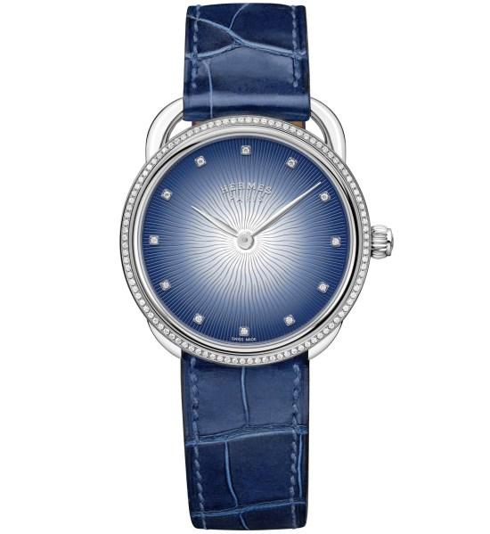 Hermès Arceau Soleil watch blue dial