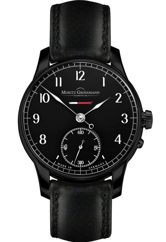 Moritz Grossmann Power Reserve 12th Anniversary Edition watch black dial