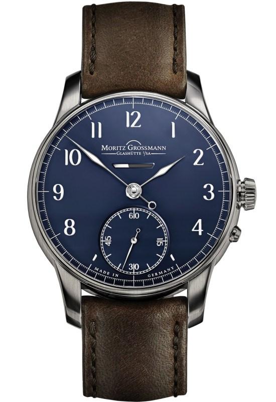 Moritz Grossmann Power Reserve 12th Anniversary Edition watch blue dial