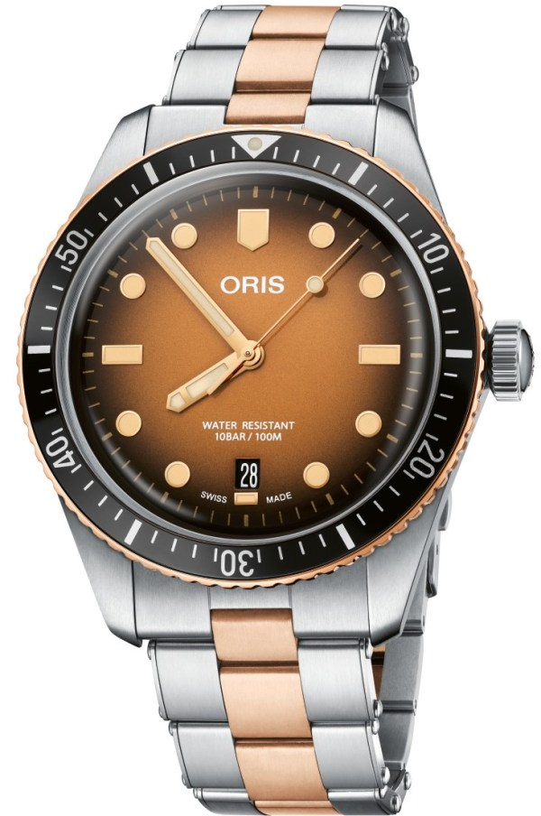Oris Divers Sixty-Five New Model with Brown Gradient Dial