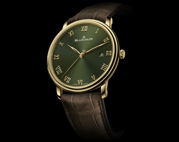 Blancpain Villeret Extraplate Boutique Edition New Model with Green Dial (Ref. 6651-1453-55A)