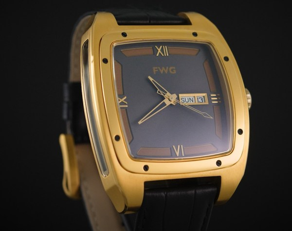 FWD Gold Day & Date Automatic Watch, Equipped with ETA 2836 gilt