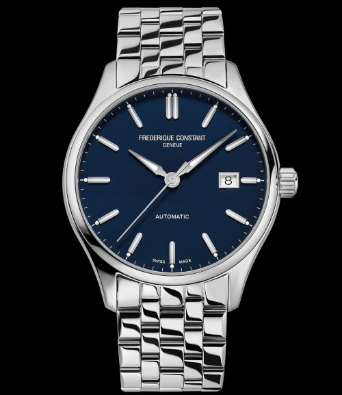 Frederique Constant Classics Index Automatic watch Navy Blue dial steel bracelet Reference FC-303NN5B6B