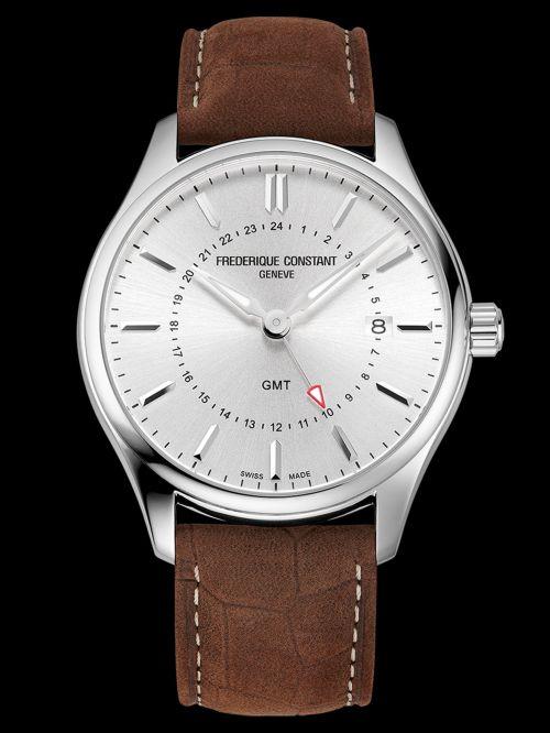 Frederique Constant Classics Quartz GMT watch Silver dial Reference FC-252SS5B6