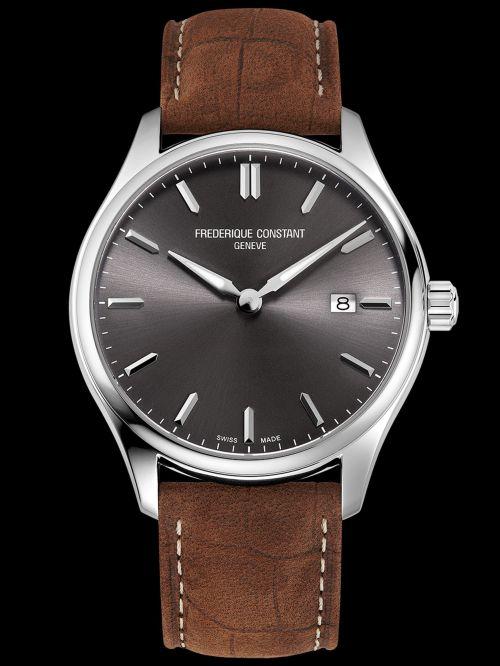Frederique Constant Classics Quartz watch dark grey dial Reference FC-220DGS5B6