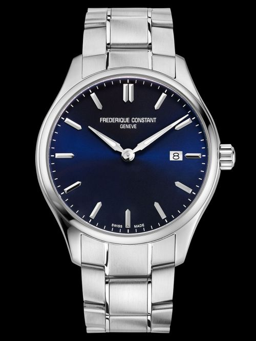 Frederique Constant Classics Quartz watch navy blue dial Reference FC-220NS5B6B