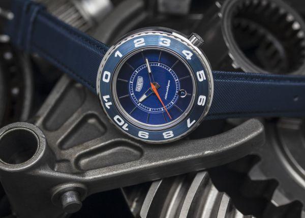 Grandval Atlantique Dual Time Watch with Club Blue Dial