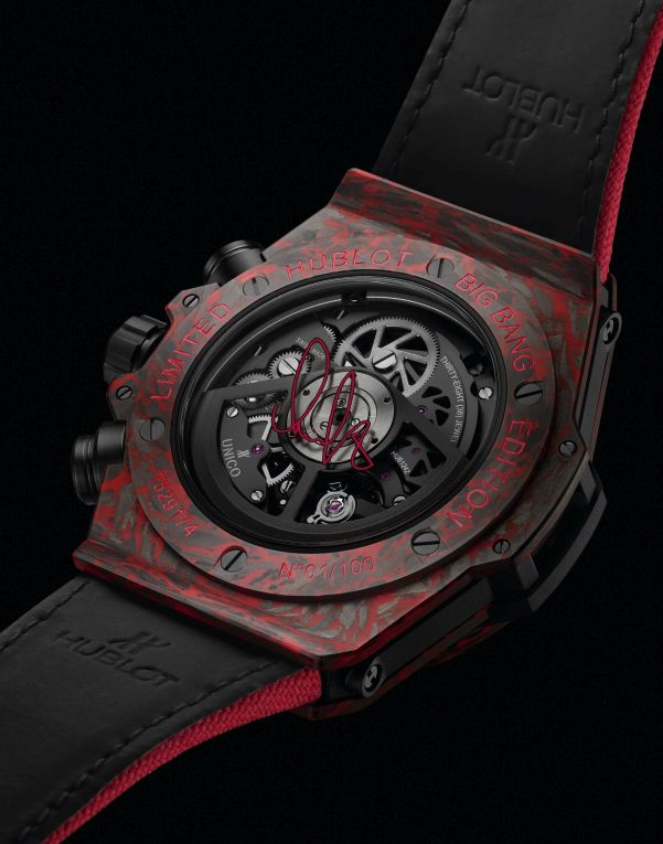Hublot Big Bang Unico Red Carbon Alex Ovechkin Limited Edition watch caseback