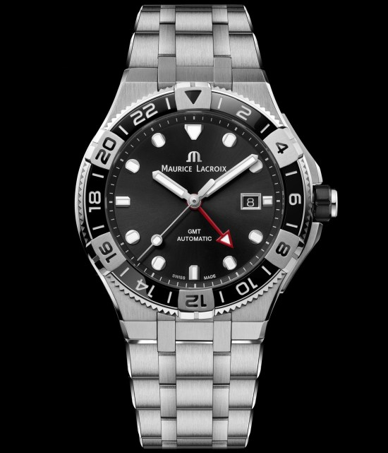 Maurice Lacroix AIKON Venturer GMT watch with black dial