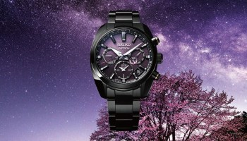 Seiko Astron GPS Solar Dual-Time 5X53, Reference SSH083: Inspired by the beauty of cherry blossom by night