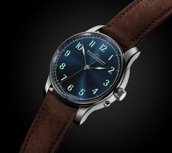 Moritz Grossmann Central Second blue dial
