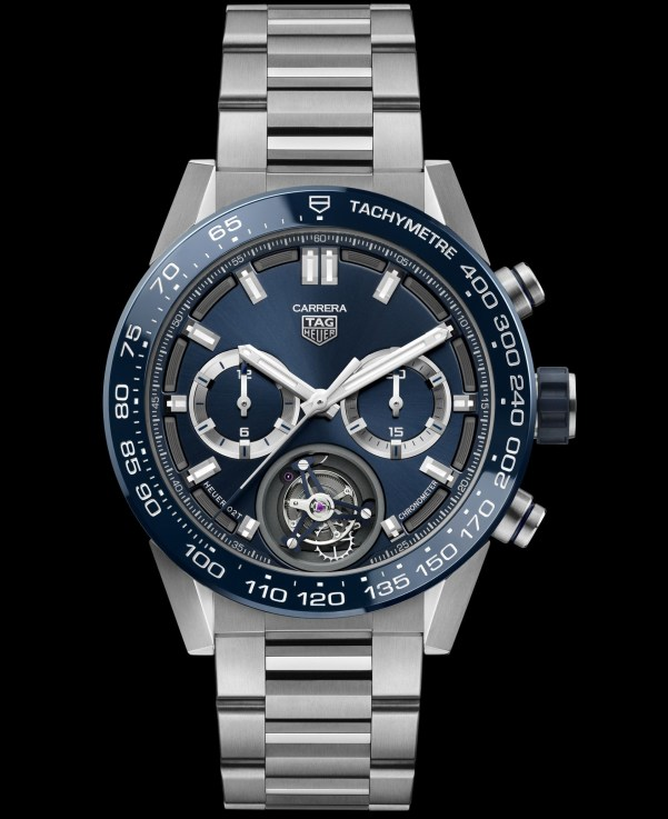 Tag Heuer Carrera Heuer 02T Blue Limited Edition (with titanium case and blue sunray brushed dial)