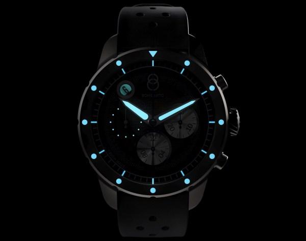 BOHEMATIC AERO MINOR automatic watch lume shot