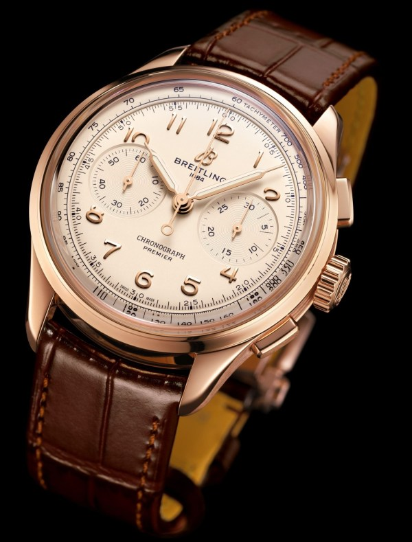 Breitling Premier Heritage Collection - Premier B09 Chronograph 40 with Red Gold Case and Silver Dial (Reference: RB0930371G1P1)