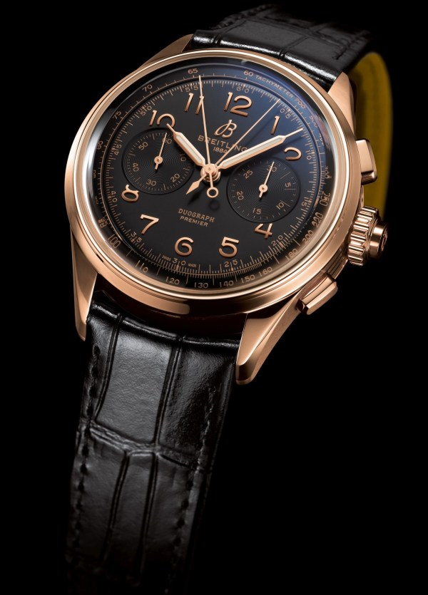 Breitling Premier Heritage Collection - Premier B15 Duograph 42 with Red Gold Case and Black Dial (Reference: RB1510251B1P1)