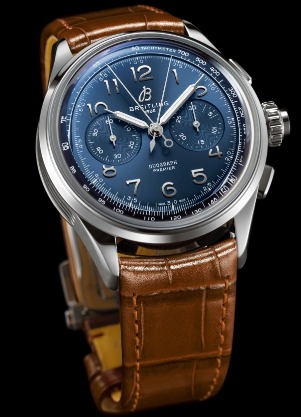 Breitling Premier Heritage Collection - Premier B15 Duograph 42 with Stainless Steel Case and Blue Dial (Reference: AB1510171C1P1)