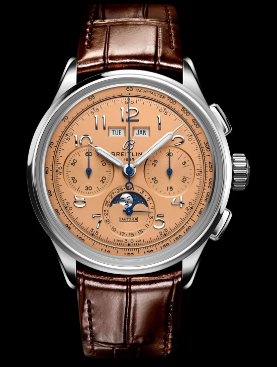 Breitling Premier Heritage Collection - Premier B25 Datora 42 with Stainless Steel Case and Copper Dial (Reference: AB2510201K1P1)