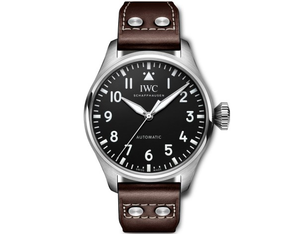 IWC Schaffhausen Big Pilot's Watch 43Ref. IW329301: Stainless steel case, black dial, rhodium-plated hands, brown calf leather strap.