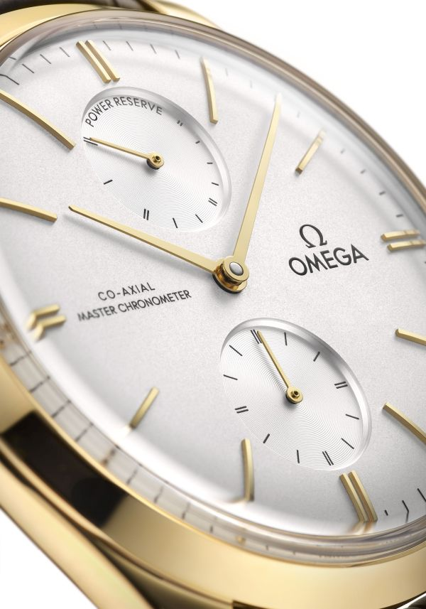OMEGA De Ville Trésor Power Reserve 40mm, 18K Yellow gold version with crystal silvery dial