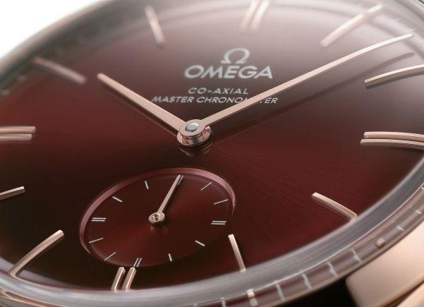 OMEGA De Ville Trésor Small Seconds (40mm, 18K Sedna™ gold version with burgundy dial)