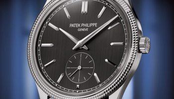 """Patek Philippe Calatrava """"Clous de Paris"""" References 6119R-001 (18K rose gold) & 6119G-001 (18K white gold)"""