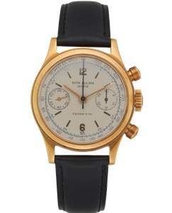 Patek Philippe & Tiffany & Co. 18K yellow gold Patek Philippe chronograph ref. 1463