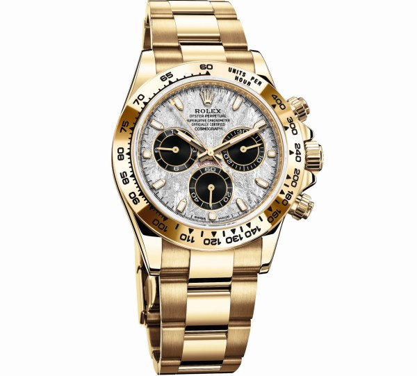 Rolex Oyster Perpetual Cosmograph Daytona, Reference 116508, 18 Carat Yellow Gold Case and Metallic Meteorite Dial