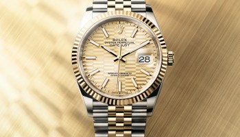 Rolex Oyster Perpetual Datejust 36 Yellow Rolesor version with Golden fluted motif dial