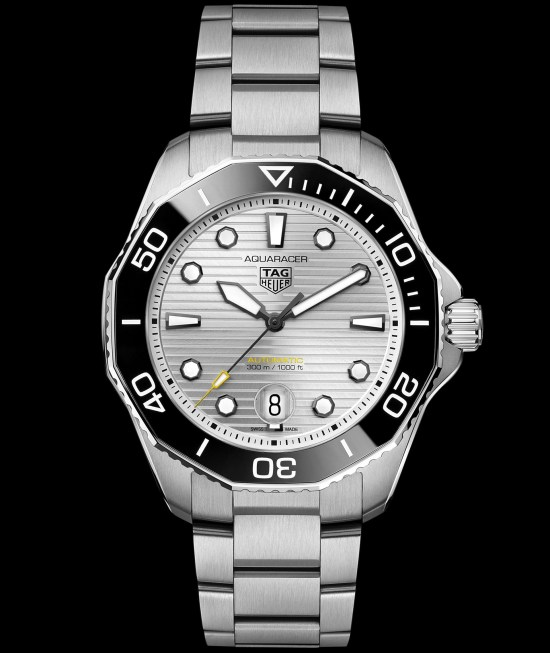 TAG Heuer Aquaracer Professional 300 Calibre 5 Automatic with silver sunray-brushed dial