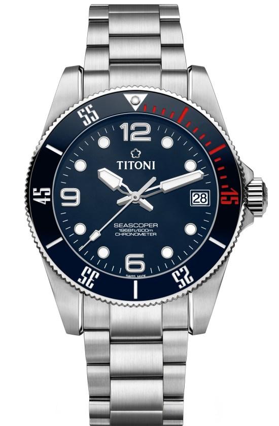 TITONI Seascoper automatic diving watch 600 meters