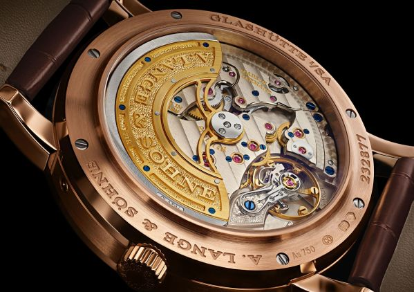 A. Lange & Sohne LANGE 1 Perpetual Calendar watch pink gold model case back