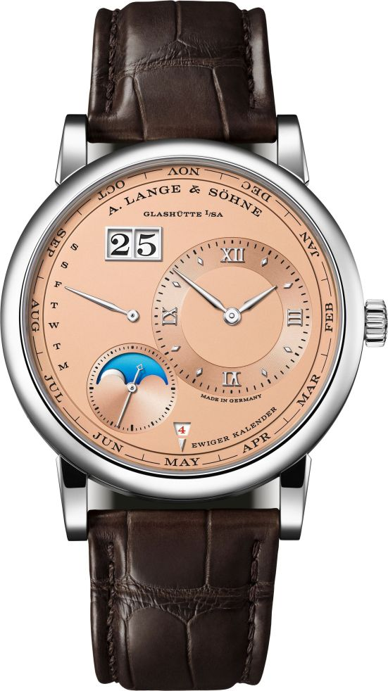 A. Lange & Sohne LANGE 1 Perpetual Calendar watch white gold model