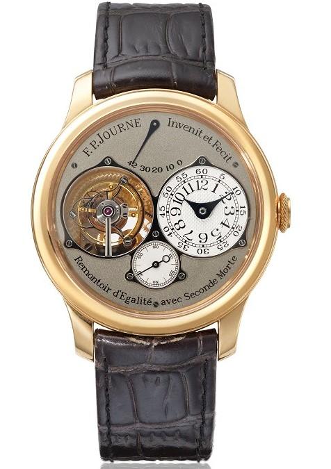 F.P. Journe reference TN 18K rose gold tourbillon wristwatch with power reserve, constant-force remontoire, dead-beat seconds