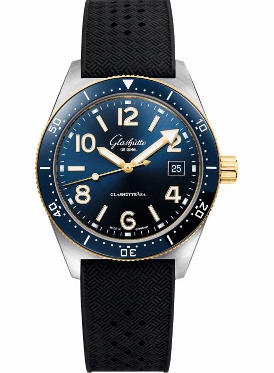 Glashütte Original SeaQ Bicolor automatic dive watch made in Germany